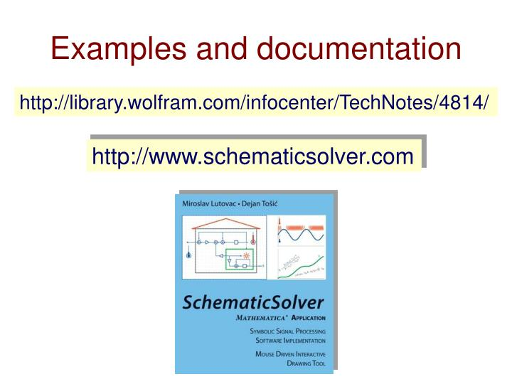 Examples and documentation