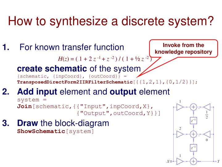 How to synthesize a discrete system?