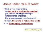james kaiser back to basics