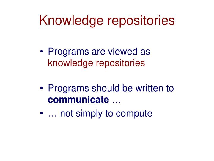 Knowledge repositories