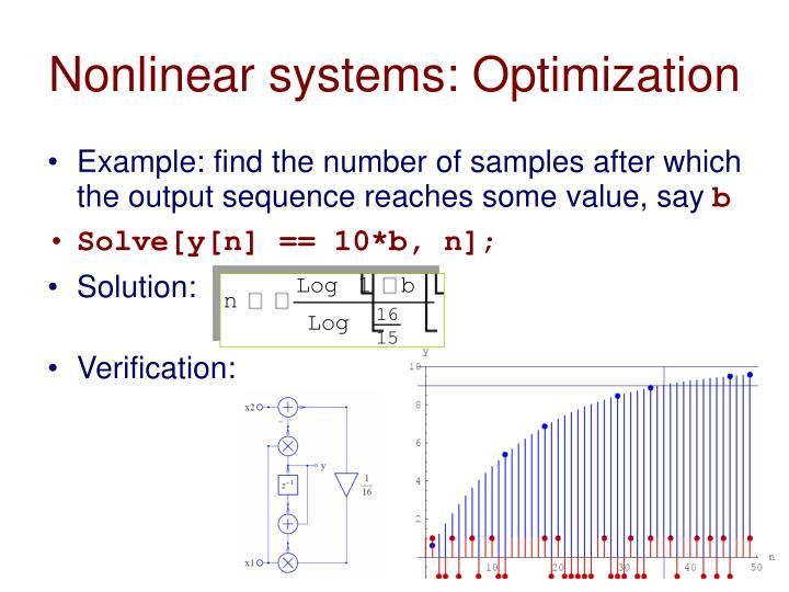 Nonlinear systems: Optimization