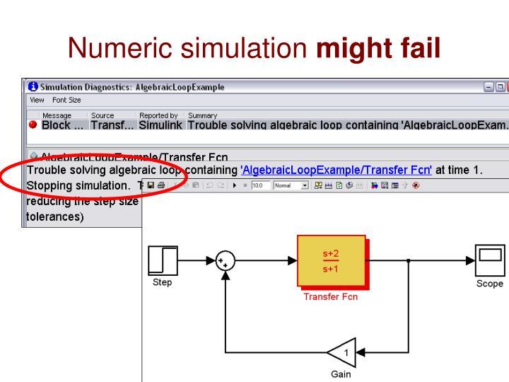 Numeric simulation