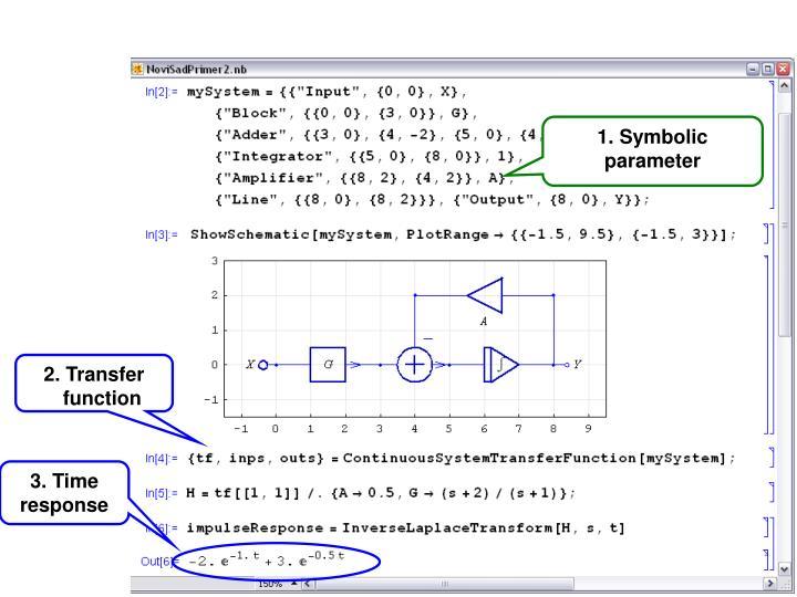 1. Symbolic parameter