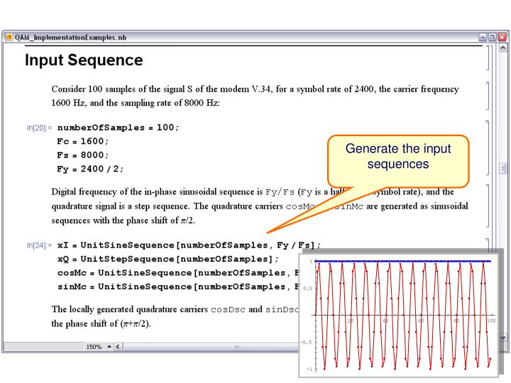 Generate the input sequences
