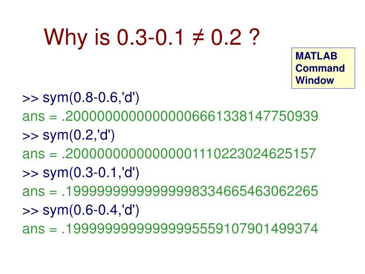 Why is 0.3-0.1 ≠ 0.2 ?