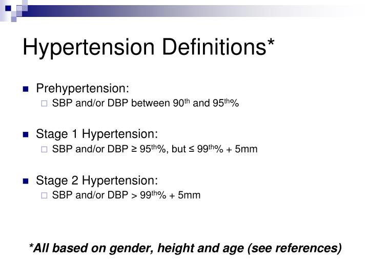 Hypertension Definitions*