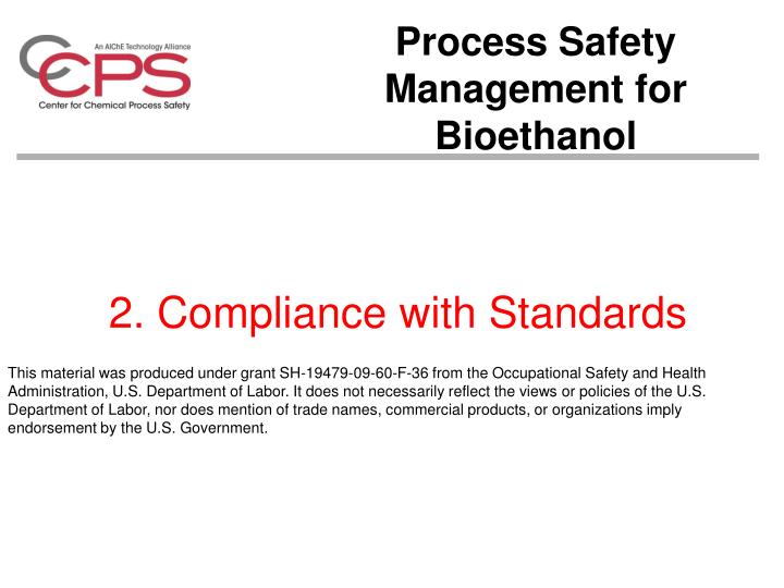 2 compliance with standards