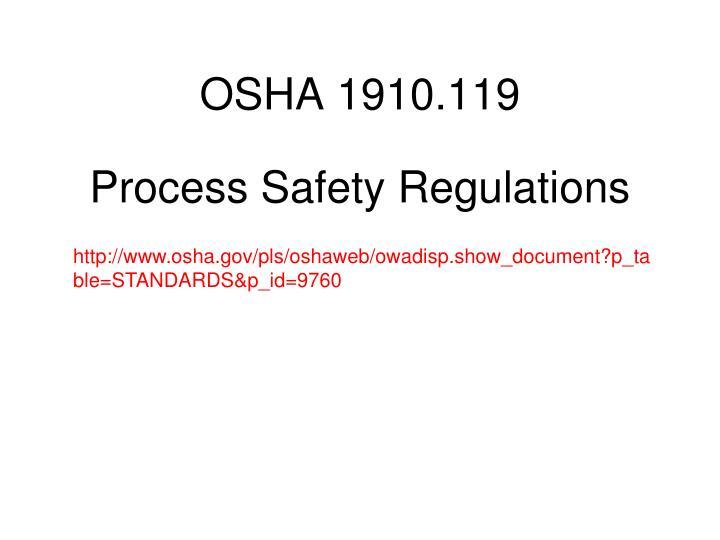 OSHA 1910.119