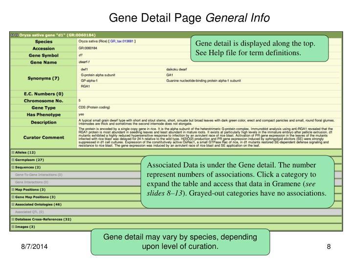 Gene Detail Page