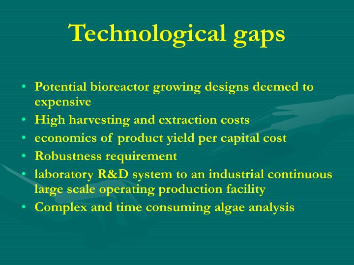 Technological gaps