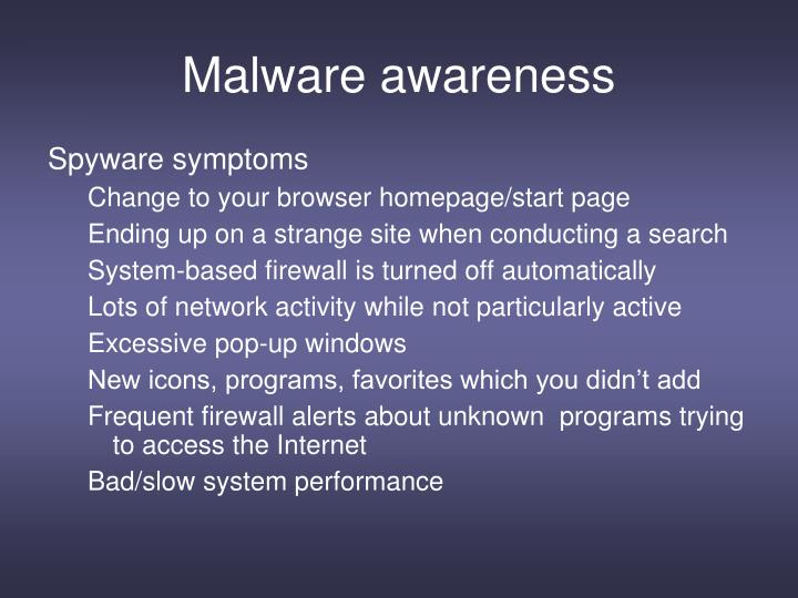 Malware awareness