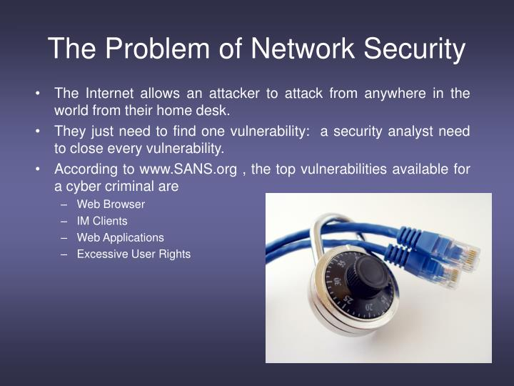The Problem of Network Security