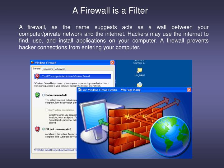 A Firewall is a Filter