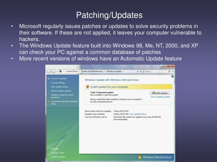 Patching/Updates
