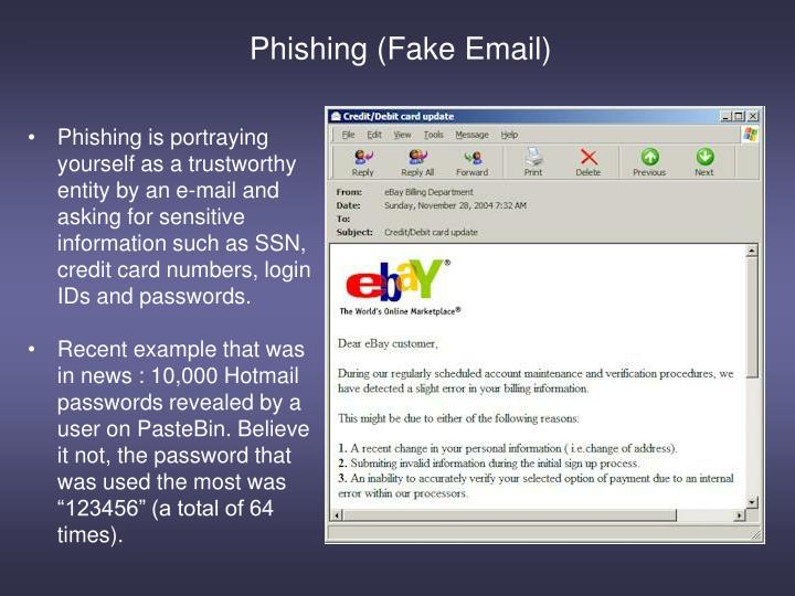 Phishing (Fake Email)