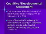 cognitive developmental assessment