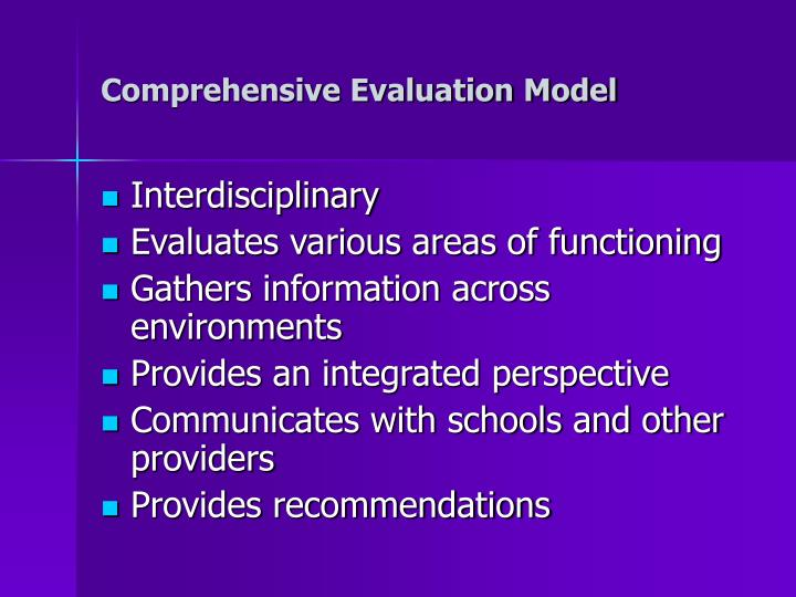 Comprehensive Evaluation Model