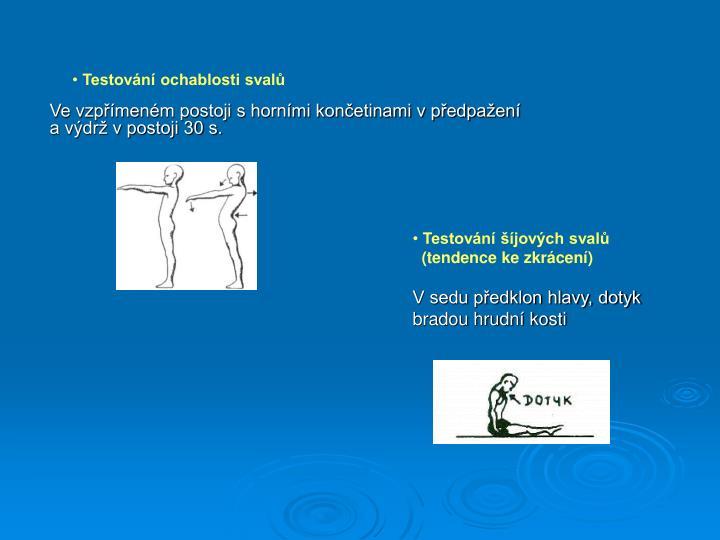 Testování ochablosti svalů