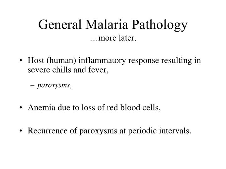 General Malaria Pathology