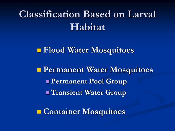 Classification Based on Larval Habitat