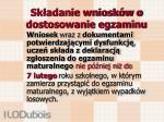 sk adanie wniosk w o dostosowanie egzaminu