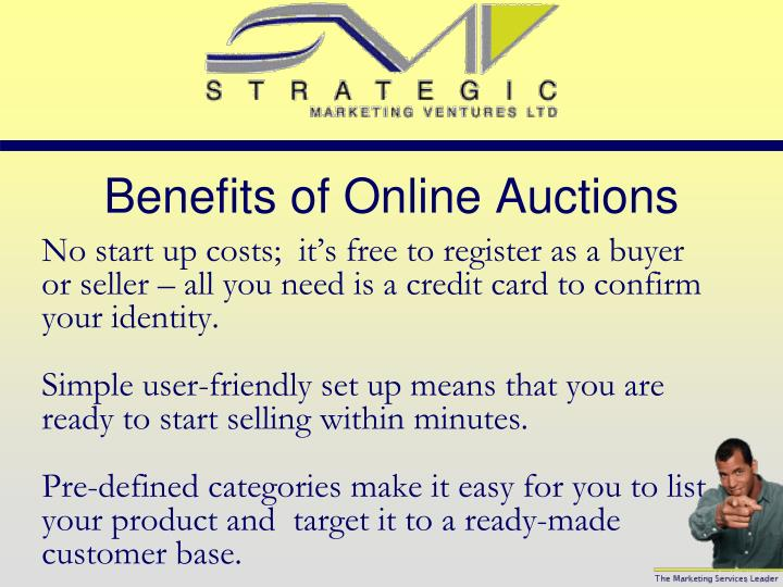 Benefits of Online Auctions