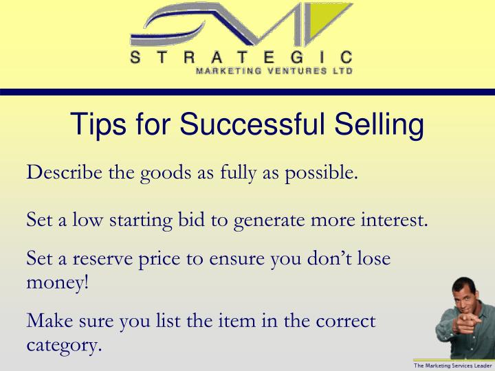 Tips for Successful Selling
