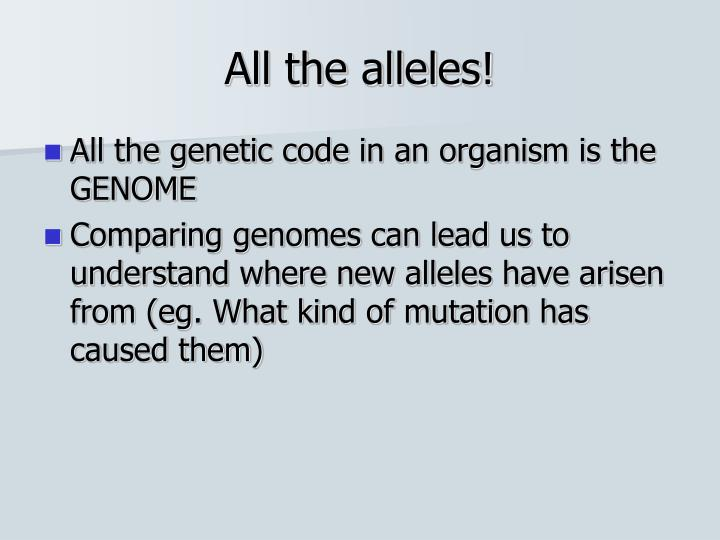 All the alleles!