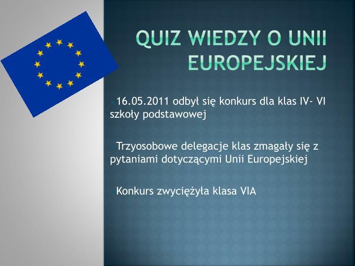 Quiz wiedzy o unii Europejskiej