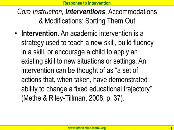 Core Instruction,