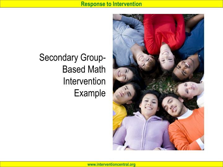 Secondary Group-Based Math Intervention Example
