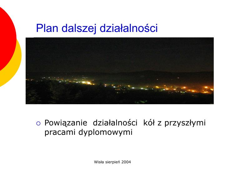 Plan dalszej działalności