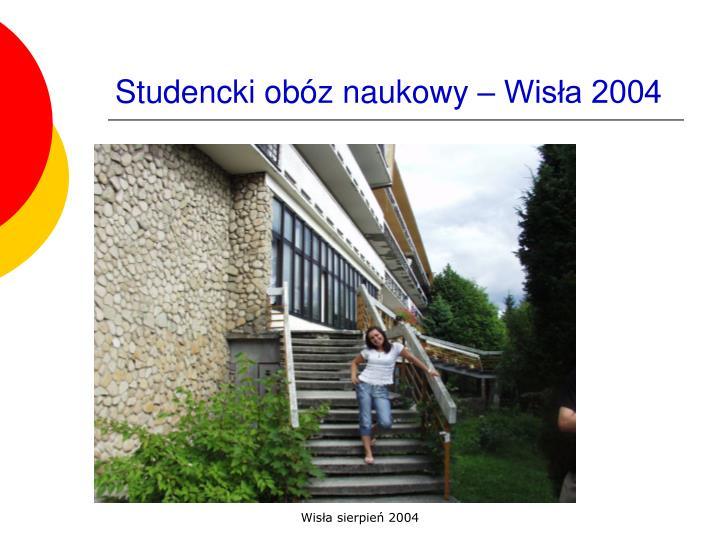 Studencki obóz naukowy – Wisła 2004