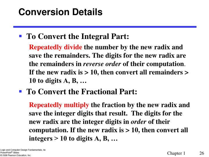 Conversion Details