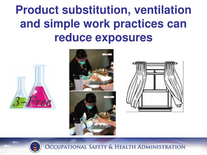 Product substitution, ventilation and simple work practices can reduce exposures