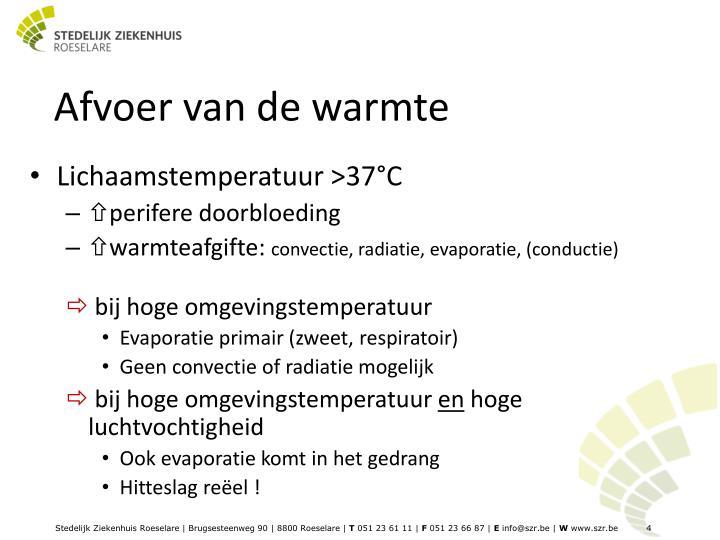 Afvoer van de warmte