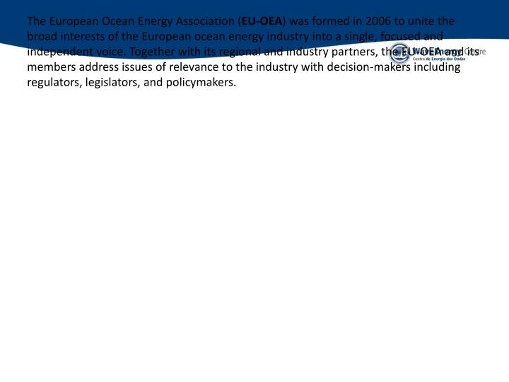 The European Ocean Energy Association (