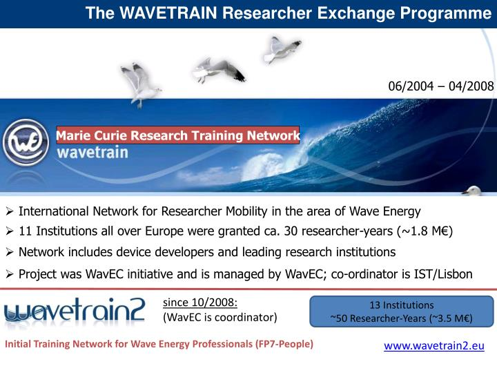 The WAVETRAIN Researcher Exchange Programme