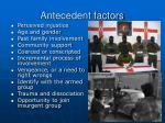 antecedent factors