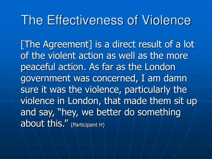 The Effectiveness of Violence