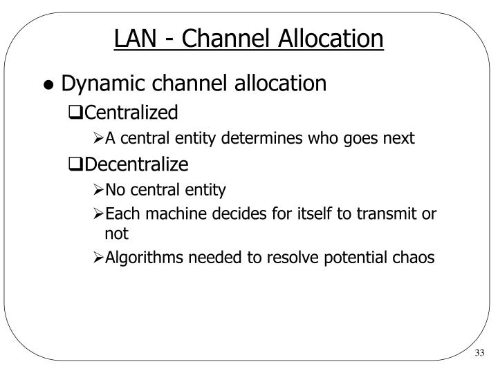 LAN - Channel Allocation