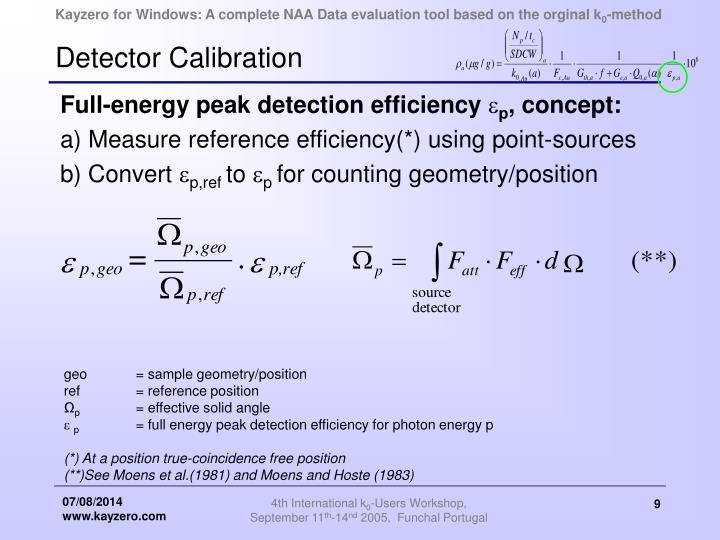 Detector Calibration