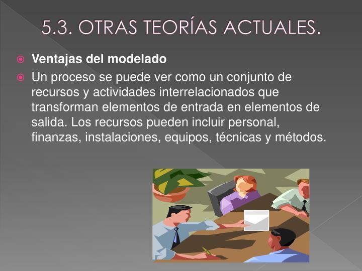 5.3. OTRAS TEORÍAS ACTUALES.