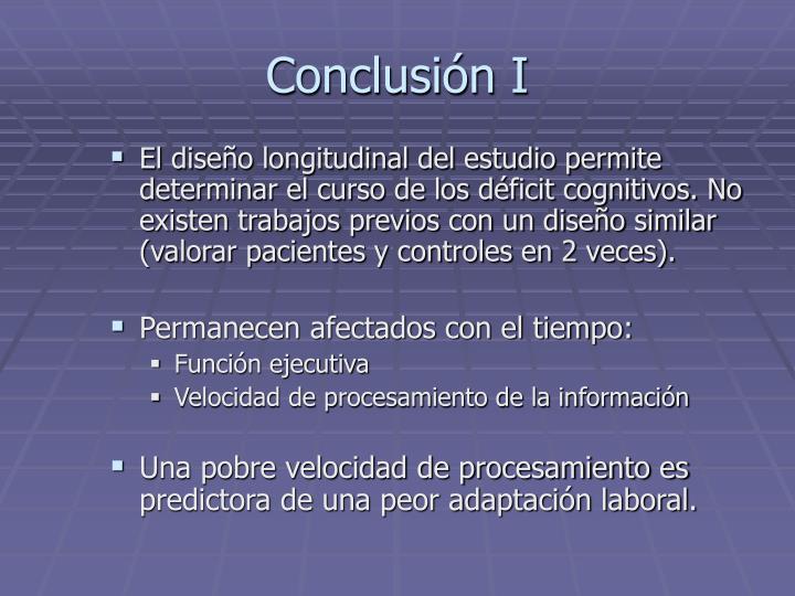 Conclusión I