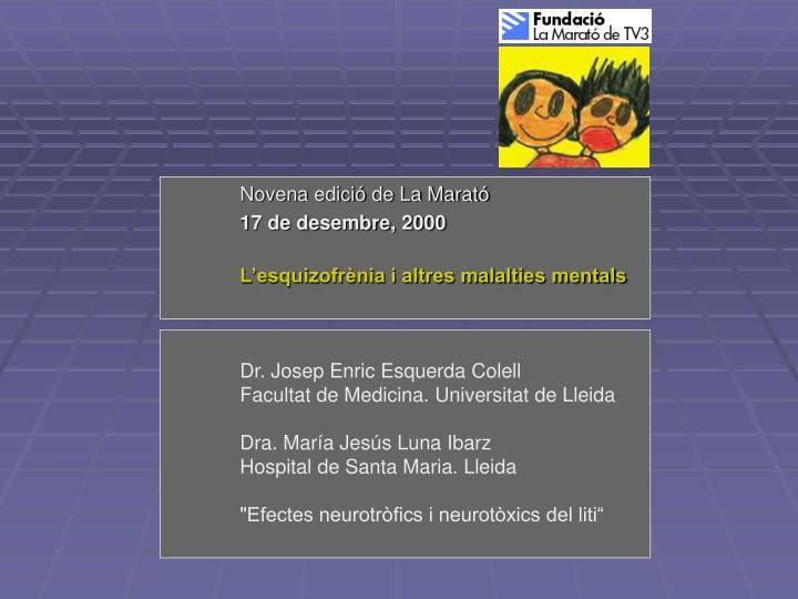Novena edició de La Marató