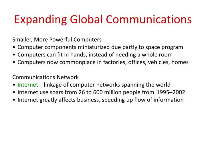 Expanding Global Communications
