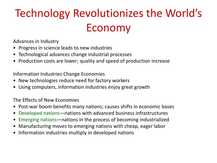 Technology Revolutionizes the World's Economy
