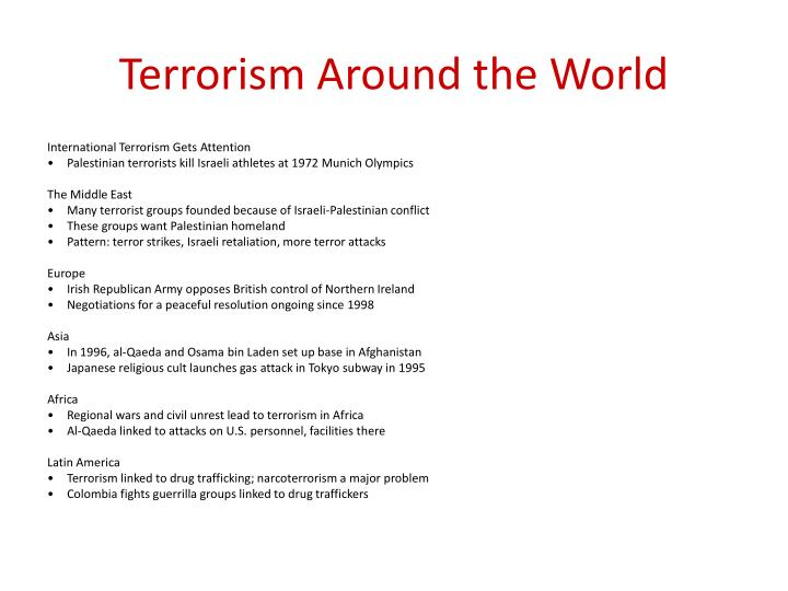 Terrorism Around the World