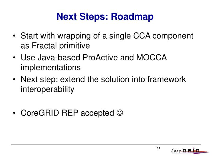 Next Steps: Roadmap