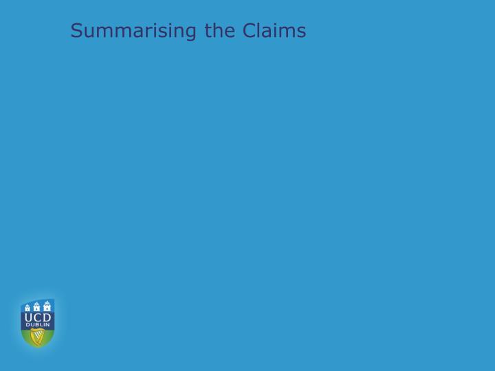 Summarising the Claims